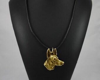 Pharaoh Hound, millesimal fineness 999, dog necklace, limited edition, ArtDog