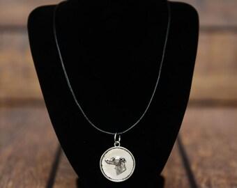 Whippet, dog necklace, medallion, limited edition, extraordinary gift, ArtDog