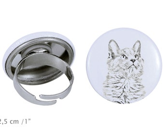 Ring with a cat - Nebelung