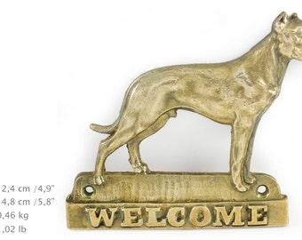 Dogo Argentino, dog welcome, hanging decoration, limited edition, ArtDog