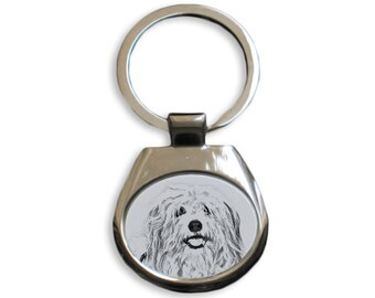 Coton de Tuléar - NEW collection of keyrings with images of purebred dogs, unique gift, sublimation . Dog keyring for dog lovers