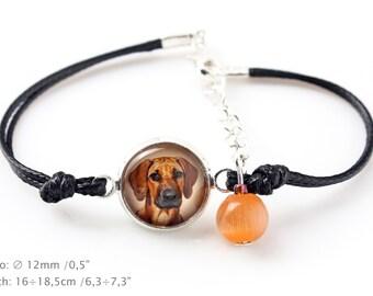 Rhodesian Ridgeback. Bracelet for people who love dogs. Photojewelry. Handmade.