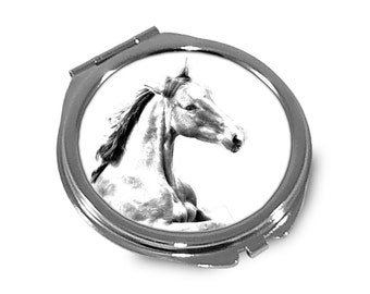 Irish Sport Horse - Pocket mirror with the image of a horse.