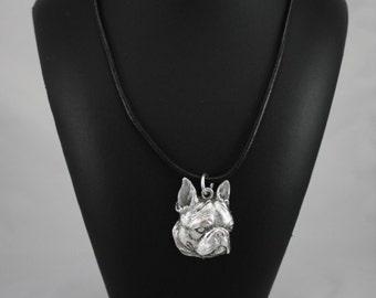 Boston Terrier,  Boston Bull, American Gentlemen, dog necklace, limited edition, ArtDog