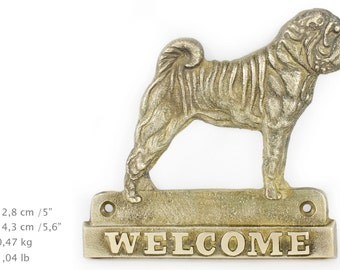 Shar Pei, dog welcome, hanging decoration, limited edition, ArtDog
