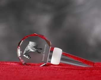 Spanish-Norman Horse, Crystal Wine Stopper with Horse, Wine and Horse Lovers, High Quality, Exceptional Gift. New Collection