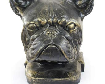 Urn for dog ashes - French Bulldog statue. ArtDog Collection Cremation box, Custom urn.