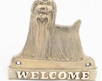 Yorkshire Terrier, dog welcome, hanging decoration, limited edition, ArtDog