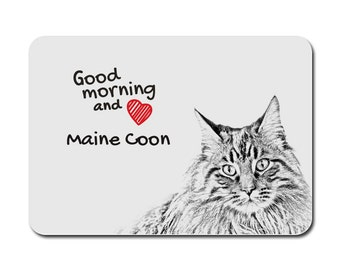 Maine Coon, A mouse pad with the image of a cat. Collection!