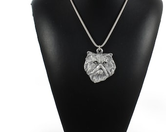 NEW, Persian Cat, cat necklace, silver cord 925, limited edition, ArtDog