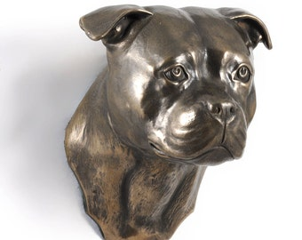 Staffordshire Terrier, dog hanging statue, limited edition, ArtDog