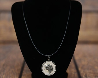 Irish Wolfhound, dog necklace, medallion, limited edition, extraordinary gift, ArtDog