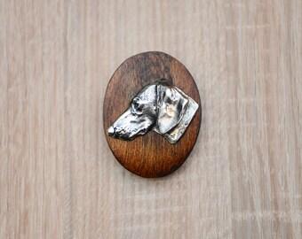Dachshund, dog show ring clip/number holder, limited edition, ArtDog