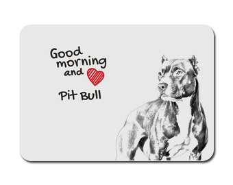 American Pit Bull Terrier, A mouse pad with the image of a dog. Collection!