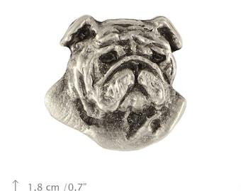 English Bulldog (head), dog pin, limited edition, ArtDog