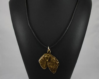 Black Russian Terrier, millesimal fineness 999, dog necklace, limited edition, ArtDog