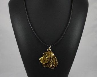 Springer Spaniel, millesimal fineness 999, dog necklace, limited edition, ArtDog