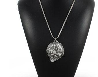NEW, Polish Lowland Sheepdog (PON), dog necklace, silver chain 925, limited edition, ArtDog
