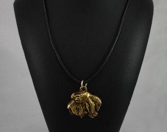 Basset Vendeen (Petit Basset Griffon Vendéen), millesimal fineness 999, dog necklace, limited edition, ArtDog
