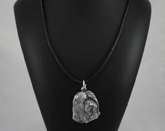 Bearded Collie, Beardie, dog necklace, limited edition, ArtDog