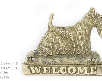 Scottish Terrier, dog welcome, hanging decoration, limited edition, ArtDog