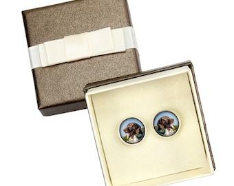 Pointer. Cufflinks with box for dog lovers. Photo jewellery. Men's jewellery. Handmade
