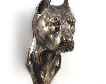 American Staffordshire Terrier (cropped), dog hanging statue, limited edition, ArtDog
