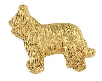 Briard body, millesimal fineness 999, dog pin, limited edition, ArtDog