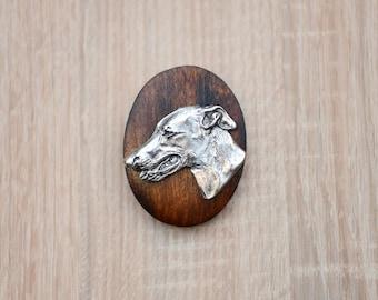 Grey Hound, dog show ring clip/number holder, limited edition, ArtDog