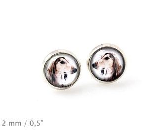 Saluki. Pet in your ear. Earrings. Photojewelry. Handmade.