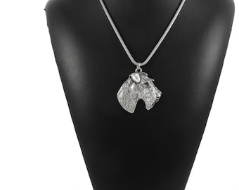 NEW, Fox Terrier, dog necklace, silver cord 925, limited edition, ArtDog