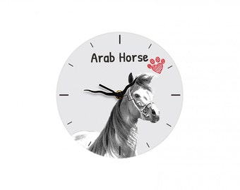Arabian, Arab horse, Free standing MDF floor clock with an image of a horse.