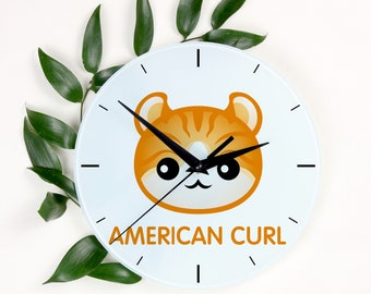 A clock with a American Curl cat. A new collection with the cute Art-Dog cat