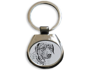 Catahoula Cur- NEW collection of keyrings with images of purebred dogs, unique gift, sublimation . Dog keyring for dog lovers