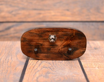 West Highland White Terrier- Unique wooden hanger with a relief of a purebred dog. Perfect for a collar, harness or leash.