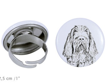 Ring with a dog- Spinone Italiano