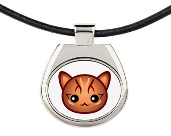 A necklace with a Bengal cat. A new collection with the cute Art-Dog cat
