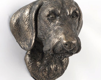 Dachshund (wirehaired), dog hanging statue, limited edition, ArtDog