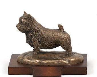 Norwich Terrier, dog wooden base statue, limited edition, ArtDog