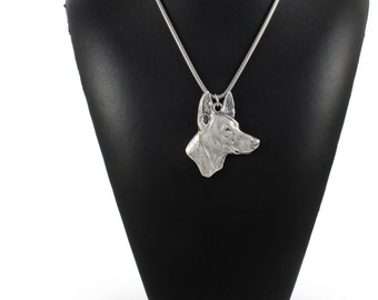 NEW, Pharaoh Hound, dog necklace, silver cord 925, limited edition, ArtDog
