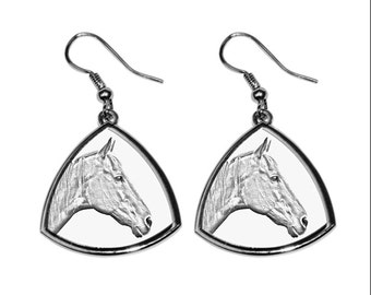 Retired Race Horse, collection of earrings with images of purebred horses, unique gift. Collection!