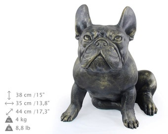 French Bulldog (sitting), dog natural size statue, limited edition, ArtDog