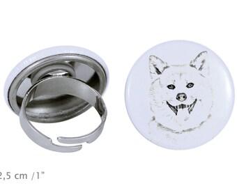 Ring with a dog - Akita Inu