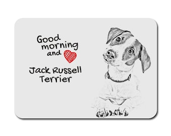Jack Russell Terrier, A mouse pad with the image of a dog. Collection!