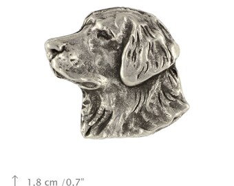 Golden Retriever (head), dog pin, limited edition, ArtDog