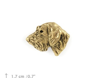 Irish Wolfhound (head), millesimal fineness 999, dog pin, limited edition, ArtDog