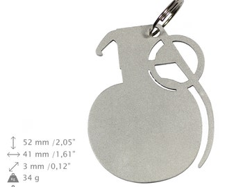 NEW, Grenade, bottle opener, stainless steel, different shapes, limited edition