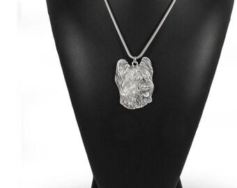 NEW, Briard, dog necklace, silver cord 925, limited edition, ArtDog