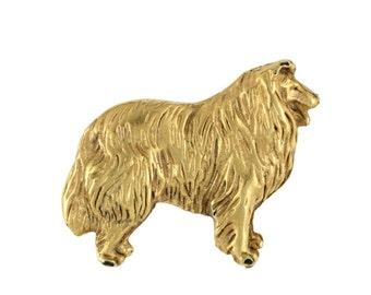 Collie body, millesimal fineness 999, dog pin, limited edition, ArtDog