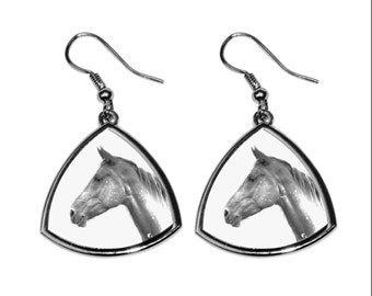 Akhal-Teke, collection of earrings with images of purebred horses, unique gift. Collection!